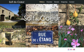 A professional website for your holiday home, gite, bed and breakfast, chambres d'hôtes etc.
